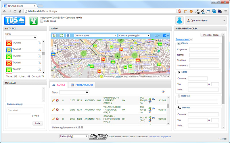 Tds Cloud Taxi Dispatch System By Digitax